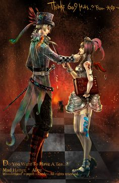 Mad Hatter and Alice by Remontant.deviantart.com on @deviantART