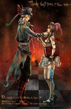 Mad Hatter and Alice by Remontant.deviantart.com on @deviantART