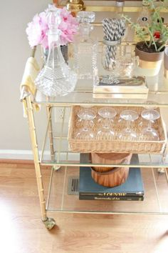 Bar Cart Styling | Doses of Design