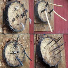 Historical throwing weapons interpreted by Finnish smith Mikko Anttonen. I like the various bo shuriken!