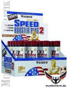 Weider Speed Booster Plus 2 für den Powerkick beim Training, enthält Koffein aus Guarana, optimiert mit Arginin, Ornithin, Methionin und Taurin.