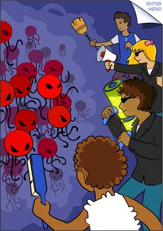 Viral Attack comic book for kids of all ages. A fun way to learn about the immune system.