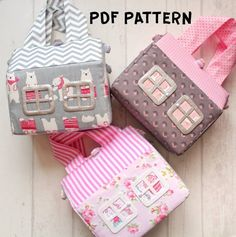 Trendy Sewing Toys For Girls Fun Felt Doll House, Kids Doll House, Kids Dolls, Animal Sewing Patterns, Bag Patterns To Sew, Quilting Patterns, Pattern Sewing, Quilt Pattern, Doll Patterns