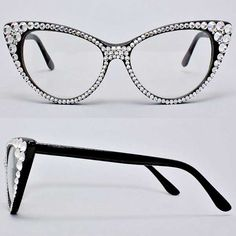238d5907fdf As Seen on Wendy Williams - Crystal Cat Eye Vanity Glasses