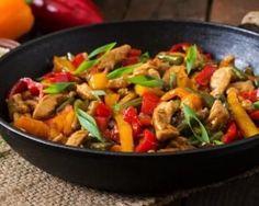 Poêlée de poulet et poivrons brûle-capitons façon fajitas : http://www.fourchette-et-bikini.fr/recettes/recettes-minceur/poelee-de-poulet-et-poivrons-brule-capitons-facon-fajitas.html