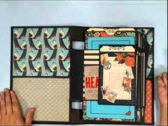 ▶ Scrapbook Mini Album: Vertical Paper Bag Album Part 7 - YouTube