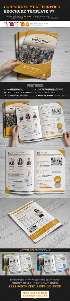 Corporate Multipurpose Brochure Template Vector EPS, InDesign INDD, AI Illustrator. Download here: http://graphicriver.net/item/corporate-multipurpose-brochure-v7/15952581?ref=ksioks