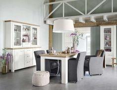 Eetkamer met stoelen Camaro en woonprogramma Duarte | Voor meer informatie en de diverse mogelijkheden kijkt u op www.prontowonen.nl #ProntoWonen #woonkamer #tafel #eetkamer #interieur