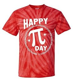 Tie-Dye: Happy Pi Day Numbers T-Shirt
