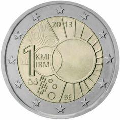 2 euro commémorative 2013 Belge - Commémoration des 100 ans de l'Institut Royal Météorologique : tirage 2 000 000 ex