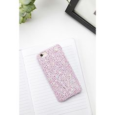 Forever21 Rhinestone Case for iPhone 6/6S ($7.90) via Polyvore featuring accessories, tech accessories y forever 21