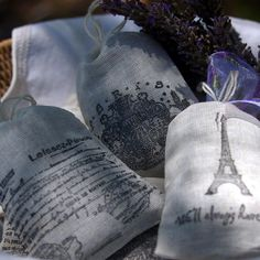 Lavender Sachets - Paris Themed - Set of 6, Party Favor, Girlfriends, Thank You Gift. $15.95, via Etsy.