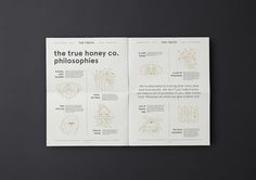 Brand identity and newsprint by Marx Design for The True Honey Company, a New Zealand-based business…