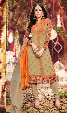 Buy Beige Party wear Straight Suit (SKU Code : SUEVCAB7705) online at Ishimaya…