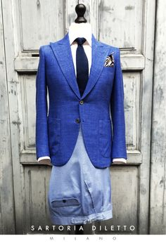 Bespoke: blazer, trousers, shirt, tie, pocket square