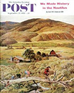 Saturday Evening Post - 1958-09-27: Following the Leader (John Clymer)