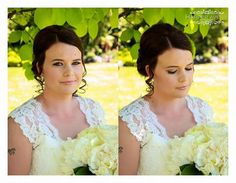 Great natural look but a little liner & lashes for my Bride Hair And Makeup Artist, Hair Makeup, Girls Dresses, Flower Girl Dresses, Lace Wedding, Wedding Dresses, Natural Looks, Wedding Makeup, Lashes