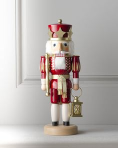 To add to my collection...  Red King Nutcracker by ULBRICHT at Horchow.