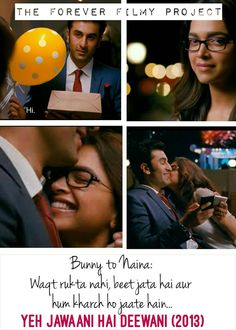 of the few bollywood endings I am mad about! Besties Quotes, Girly Quotes, Smile Quotes, Yjhd Quotes, Bollywood Love Quotes, Dear Diary Quotes, Romantic Quotes For Her, Movie Dialogues, Movie Shots