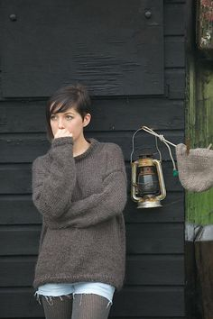Ravelry: His and Hers Sweater pattern by Sarah Hatton ~ handy knit for around the farm!