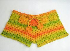 Häkeln Muster weißer Strand shorts und Farbe des von LecrochetArt
