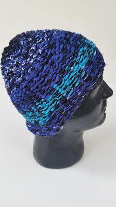 Hand woven hat reconstucted bandana biker skullcap by LOAF