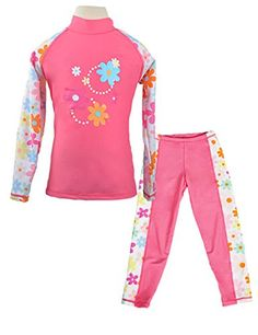UV Sunsuit with Zipper Swimming Clothes iiniim Infant Baby Girls One Piece Swimsuit Flower Swimwear Long Sleeve UPF 50