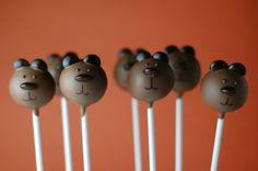 brown bear cakepop