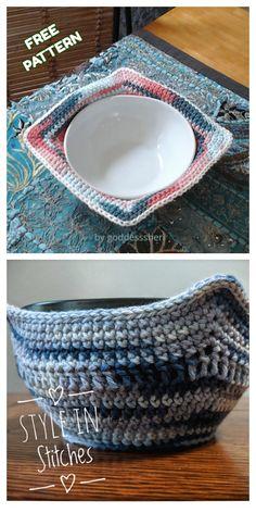 Bowl Cozy Hot Pad Free Crochet Patterns - DIY Magazine - - Bowl Cozy Hot Pad Free Crochet Patterns – DIY Magazine Source by nocturnalgurl Crochet Bowl, Knit Or Crochet, Easy Crochet, Crochet Hooks, Diy Crochet Gifts, Diy Crochet Projects, Crochet Skirts, Crochet Summer, Crochet Gratis