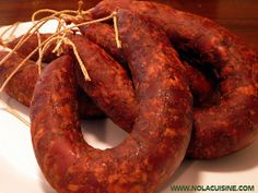 Well it's Fall again, and in my house that means it's time to fire up the smoker and start bulking up the freezer with Andouille, Tasso, and other seasoning meats for Gumbo, soup and stew season. Andouille Sausage Recipes, Homemade Sausage Recipes, Chorizo Sausage, Pork Recipes, Dog Food Recipes, Smoker Recipes, Charcuterie, How To Make Sausage, Sausage Making