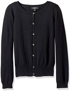 Sizes 6-12 Deux par Deux Girls Long Sweater Black and White
