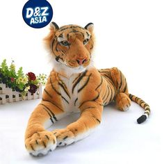 Authentic simulation tiger plush giant tiger King of Jungle plush toy doll boy's kids children Christmas gifts full size options Giant Stuffed Animals, Stuffed Toys, Barbie Plane, Cinderella Bed, Little Live Pets, Cute Avocado, Bird Party, Disney Birthday, Christmas Gifts For Kids