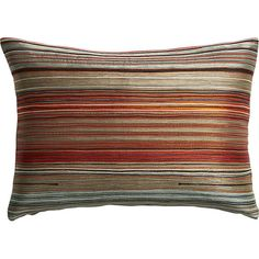 """multi embroidered red 18""""x12"""" pillow   CB2"""