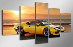 5 Pcs With Wood Framed HD Printed Yellow luxury cars Painting children's room decor print poster picture canvas framed wall art Poster Pictures, Canvas Pictures, Childrens Room Decor, Car Painting, Summer Sale, Canvas Frame, Framed Wall Art, Luxury Cars, Best Gifts