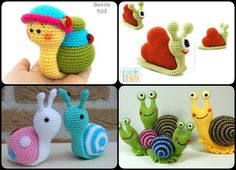 These Crochet Amigurumi Snail Patterns look particularly cute. The designs are very creative and unique. They can be used as little great gifts.