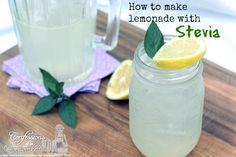 How to make lemonade with stevia #recipe #health http://www.confessionsofanover-workedmom.com/2013/08/how-to-make-lemonade-with-stevia.html
