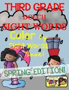 Create a book with this 13 Color by Sight Word pages using all the 41 Third Grade Dolch Sight Words.  A cover page for the book and a page with a list of the dolch sight words are included for a total of 15-page book.  Complete 41 THIRD GRADE Dolch Sight Words or high frequency words Included: about, better, bring, carry, clean, cut, done, draw, drink, eight, fall, far, full, got, grow, hold, hot, hurt, if, keep, kind, laugh, light, long, much, myself, never, only, own, pick, seven, shall…