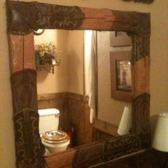Boot top mirror. (yes my mom makes these!)