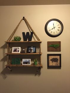 The shelf I made at the do-it-herself workshop at Home Depot. I love it!