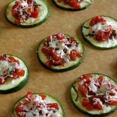 Zucchini Bruschetta - an easy, low-carb appetizer