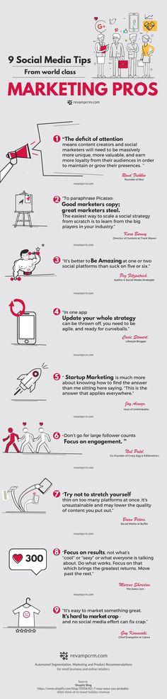 9 Social Media Tips From World Class Marketing Pros like @randfish, @casiestewart, @GuyKawasaki