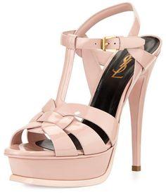d5ecff4e896 Yves Saint Laurent Tribute Patent Leather Platform Sandal