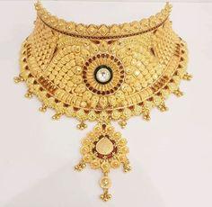 Gold Bridal Earrings, Gold Choker, Bridal Jewellery, Bridal Necklace, Gold Necklace, Pearl Jewelry, Indian Jewelry, Gold Jewelry, Beaded Jewelry