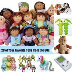 If you're a child of the 80s, then these were some of your favorite toys! Which ones do you remember?