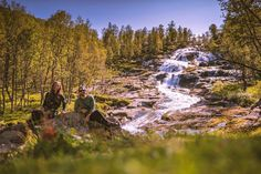 We love waterfalls and they are basically everywhere here. The Sognefjellet Tourist Route was a breathtaking drive and a can't miss if you are road tripping Norway #visitnorwayusa #roadtrip