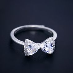 Stunning Gift Bling CZ Bow Ring for Girls [100506] - $45.99 : jewelsin.com