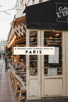 Paris, France is full of countless things to do, making it hard to narrow down your itinerary. Here are 8 things you cannot miss when visiting, including the best places to eat, drink, and see! #paris #france #travel #parisitinerary