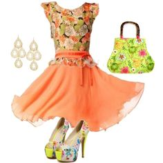"""""""Simple Floral Outfit, young, or elegant"""" by pacconylois on Polyvore"""