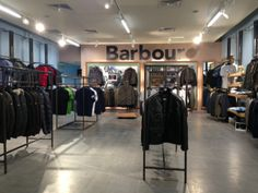 Barbour wall in Glasgow