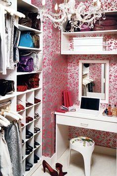 Definitely need space for a vanity table in dressing room/walk in wardrobe
